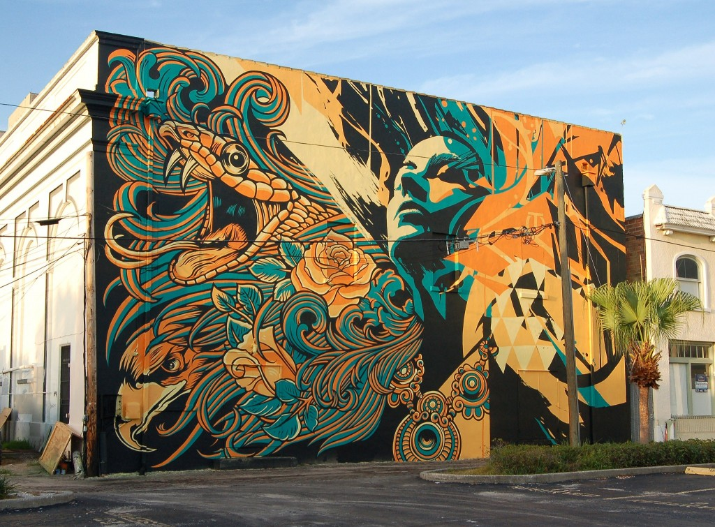Tes One and Pale Horse Design St Pete Florida Mural